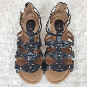 CLARKS | Black Artisan Sandals Size 6